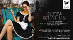 sleep with us advert