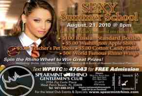 spearmint rhino sexy summer school party advert
