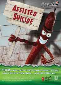 Peperami assisted suicide advert