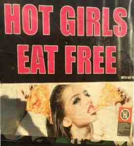 hot girls eat free advert