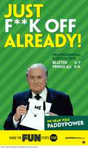 paddy power on blatter advert