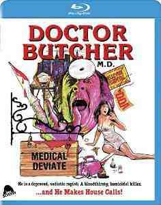 Doctor Butcher Zombie Holocaust Blu rays