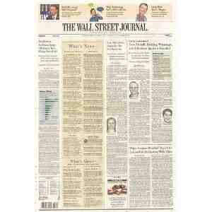 Wall Street Journal 6 month subscription