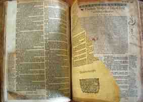 bible with torn page