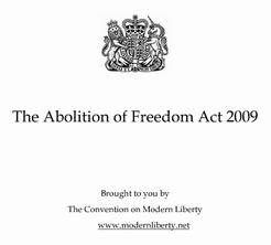 Ablition of Freedom Act 2009