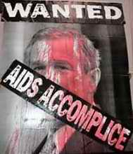 George Bush Wanted as an AIDS accomplice