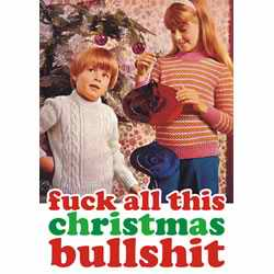 Christmas Bulshit card