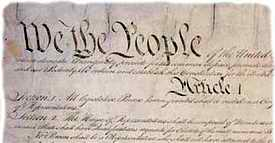 US Constitution document