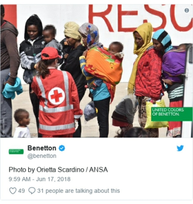 benetton migrants
