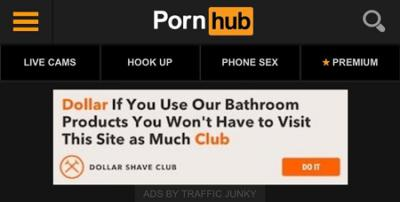 dollar shave on pornhub