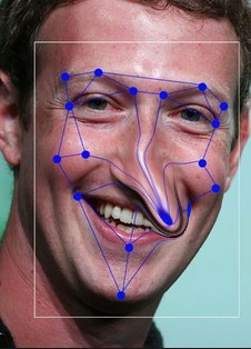 Facial recognition with Pinocchio nose