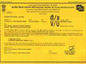 indian film certificate