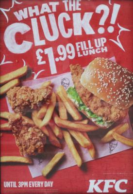 kfc what the cluck poster