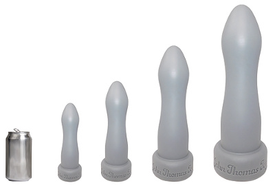 John Thomas Anal Torpdeo Platinum Silicone Stretcher